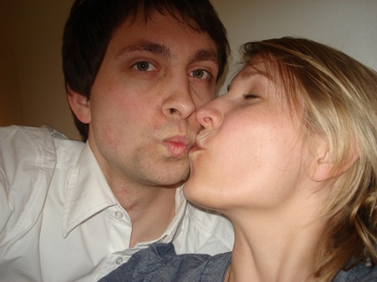 milena e carlo bacio